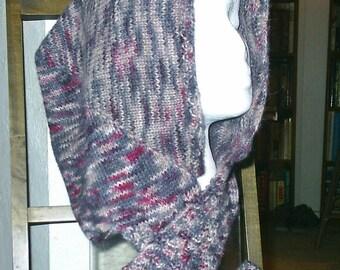 Hooded Scarf Knitting Pattern - (PDF download)