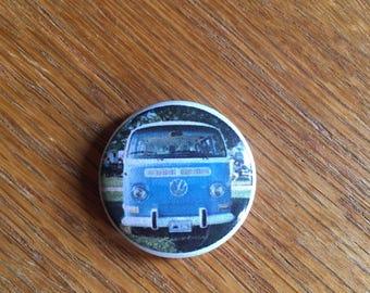 Vintage VW Bus 1 inch pin
