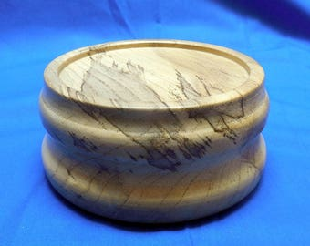Smaller Spalted Hackberry Hardwood Base for Bird or Fish carvings
