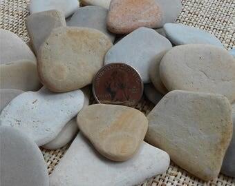 Pebble Art, 12 Pieces, 1 1/2 to 2 1/2 Inches, Rocks, Pebbles, Craft Rocks, Flat Rocks, Miniature Garden, Fairy Garden, Stones,l Stone,Rock