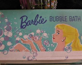 Original 1961 BARBIE Bubble Bath Vintage Box Great Colors and Graphics