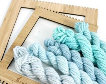 rain drop   ... handspun yarn set, weaving creative yarn bundle, hand spun, hand dyed yarn, handspun art yarn