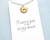 SALE - Miscarriage Necklace   Heart Necklace, Condolence, Infant Loss Jewelry, Loss of a Child, Miscarriage Quote, Sympathy Gift   R01