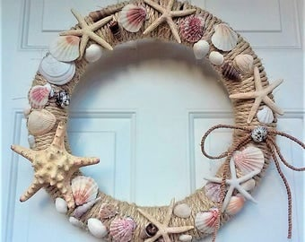 Beach Wreath,Nautical Wreath,Coastal Wreath,Front Door Wreath