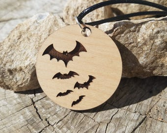 Spooky Bats Halloween pendant Necklace