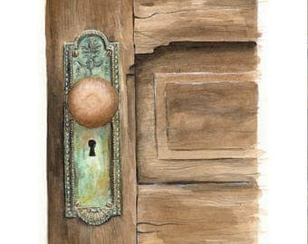 Old House Love signed print of an original watercolor