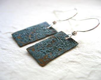 Copper Earrings, Handmade Earrings, Oxidized Copper Earrings, Oxidized Copper Earrings, Dangle Earrings, Drop Earrings, Copper Jewelry