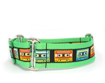 "1.5"" Mixed Tape buckle or martingale dog collar"