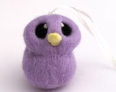 Sale Lilac Hanging Bird Needle felted Bird Decoration