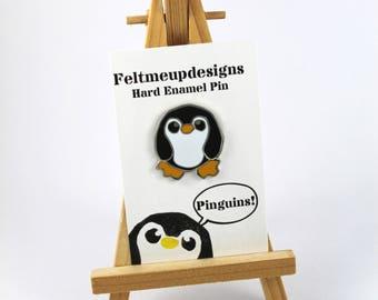 Penguin Pin, Enamel Penguin Pin, Penguin Badge, Cute Pin, Lapel Pin