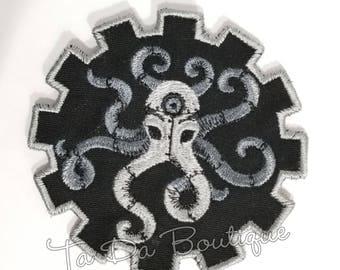 Steampunk Octopus Gear Patch