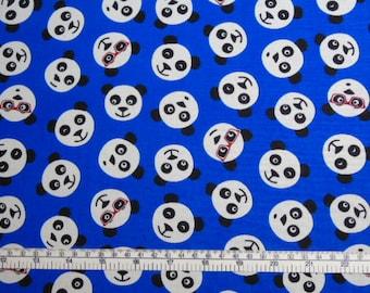 CUSTOM Reusable Cloth Menstrual Pad - You Pick Backing - Panda Faces on Blue