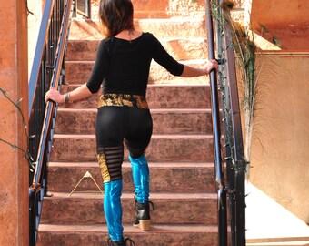 Qadesh Festival Pants - womens leggings - lace leggings - pocket leggings - Sparkle Pants - Spandex Pants - Festival clothing - dance pants