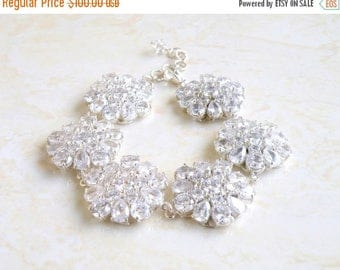 Summer Sale Bridal Bracelet Pear Cubic Zirconia Bracelet BB1 Wedding Jewelry