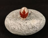 Red Maple Silver Ring
