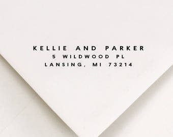 Housewarming Address Stamp -  Gifts For The Couple - First Home Housewarming Gift (635)