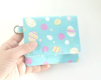 Egg wallet etsy closing sale cute easter wallet robin egg blue fabric coin purse card organizer cute ladies negle Choice Image