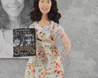 Karen Carpenter Doll Miniature Seventies Music Fan Art Collectible