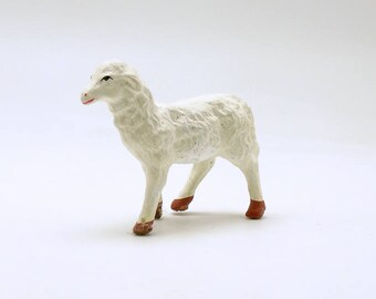 Vintage Lamb Sheep Figurine Nativity Christmas Village Christmas Decoration