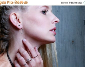 20% Off Memorial Day Sale Angled Hoops | Silver Earrings