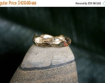 40% Off 14k Large Leaf Ring | Stacking Ring | Nature Inspired