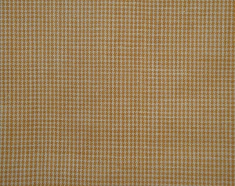 FLAWED Cotton Homespun Fabric Butterscotch Fine Check | Rag Quilt Fabric | Doll Making Fabric | Crafters Fabric | Cotton Fabric | 45 x 45