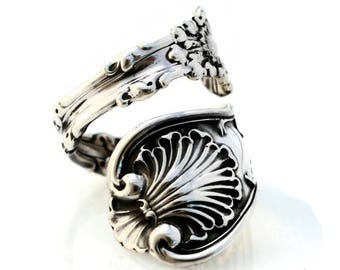 Spoon Ring Sterling Silver Imperial Queen by Whiting 1893 Size 6-15