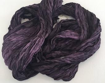 Purple Silk Scarf / Hand Dyed Silk Scarf / Fiber Art / OOAK / Textured Silks Collection