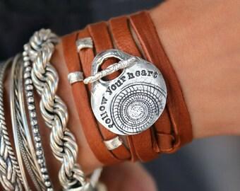Boho Wrap Bracelet, Boho Jewelry Leather Wrap Bracelet, Modern Hippie Style Jewelry, 5X Times Wrap Bracelet, Bohemian Style Jewelry Wrap