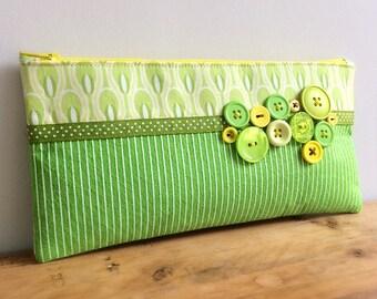Felt and fabric pencil case