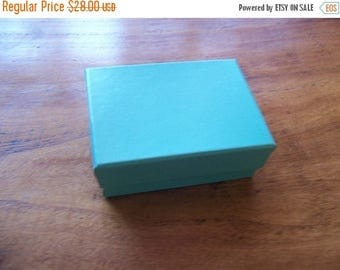Summer Sale 100 Pack of 3.25X2.25X1 Inch Size Teal Cotton Filled Jewelry Gift Merchandise Boxes