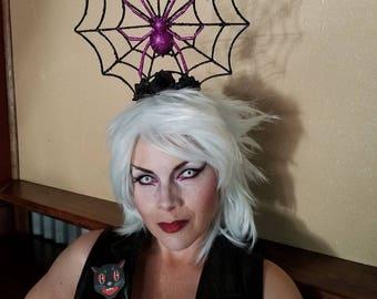 Spider web, Spider queen, Halloween, Halloween headband, Ready to ship, Spider web, Spider