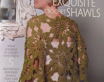 CLEARANCE Exquisite Crochet Shawls 5 Designs Casual to Dressy by Cristina Mershon