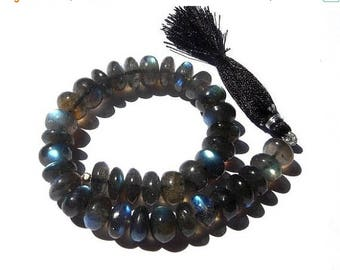 Sale 45% off 1/2 Strand - Finest Quality Blue Flashy Genuine AAA Labradorite Smooth Rondelles Size 9 - 9.5mm approx, Wholesale Price