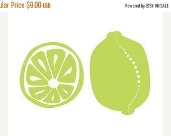 50% Off Summer Sale - Limes Art Print Kitchen Art - 5x7 Print - Lime Green Modern Contemporary