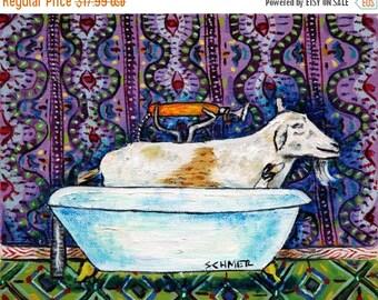 20 % off storewide goat art PRINT 11x14 JSCHMETZ modern abstract folk pop art american ART gift bathroom
