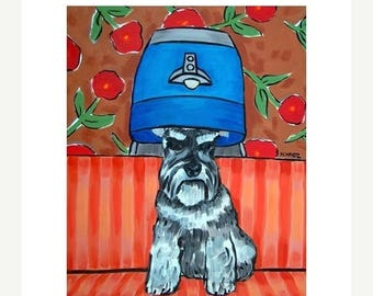 20% off Schnauzer at the Salon Dog Art Print