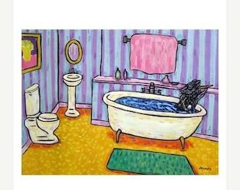 20% off Pig Taking a Bath Art Print