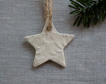 Small Clay Christmas Star Ornaments (free worldwide shipping)