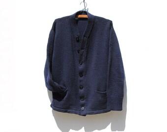Navy blue cardigan | Etsy