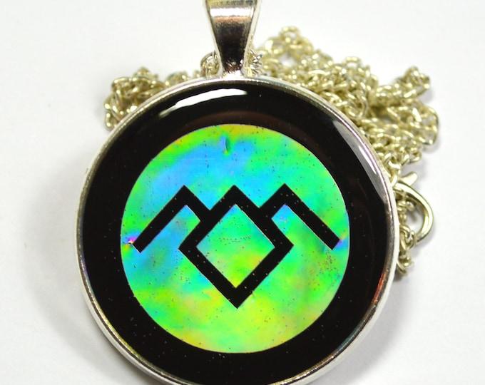 Twin Peaks White Lodge Symbol Holographic Holo Resin Pendant