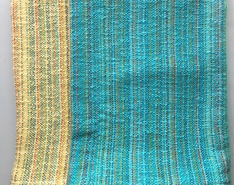 Turquoise Blue Baby Blanket Cotton Blanket
