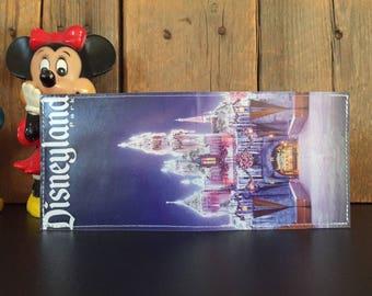 Sleeping Beauty's Castle at Christmastime Disneyland Map Wallet