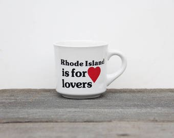 Rhode Island is for Lovers Graphic Typographic Coffee Mug