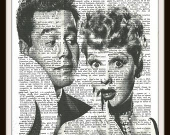 I love Lucy- Lucille Ball- Lucy and Desi - Vintage Dictionary Art Print--Fits 8x10 Mat or Frame