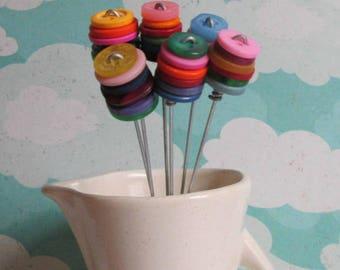 Multi-color Button Bouquet Small Buttons
