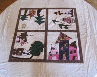 Whimsical Houses Tablecloth