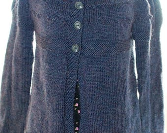 Christmas In July Handknitted Cardigan in Navy