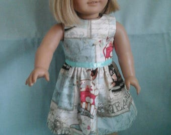 Teatime Dress / Doll Clothes fits American Girl doll or other 18 inch doll