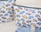 Mini Cooper Classic British Car Racing Driving Men's Retro Toiletry Cosmetic Wash Sponge Bag
